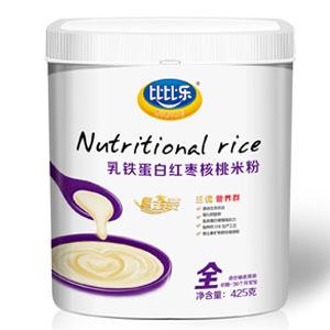 比比乐乳铁蛋白红枣核桃米粉