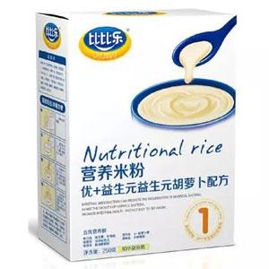 比比乐优+益生元B-胡萝卜营养米粉