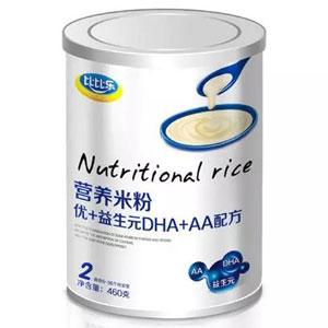 比比乐优+益生元DHA+AA营养米粉