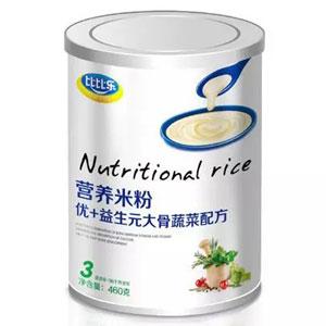 比比乐优+益生元大骨蔬菜营养米粉