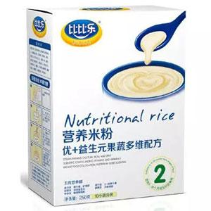 比比乐优+益生元果蔬多维营养米粉