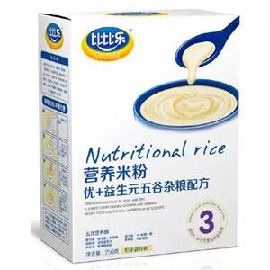 比比乐优+益生元五谷杂粮营养米粉