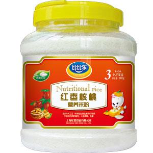 比比乐红枣核桃营养米粉800克桶装