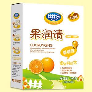 比比乐香橙味果润清盒装