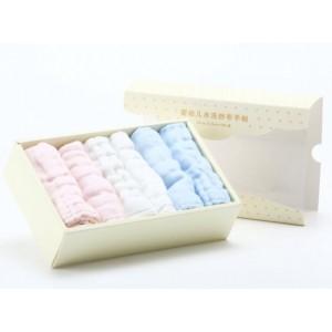 婴幼儿水洗纱布手帕6条盒装