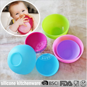 硅胶安全碗 BABY碗 软硅胶碗 美国食品级安全无毒