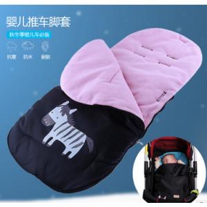 新款婴儿推车保暖脚套婴儿保暖睡袋冬季加厚摇粒绒婴儿推车脚罩