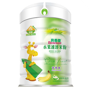 贝善臣水果速溶米粉香蕉味(高盖)全国招商
