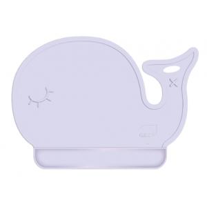 儿童硅胶卡通餐垫宝宝吃饭餐垫 鲸鱼造型餐垫一体设计