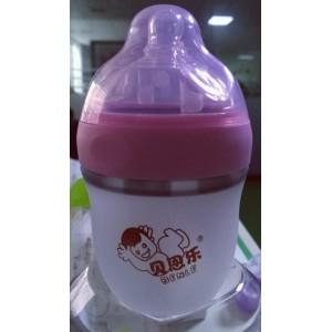 贝恩乐广口防胀气硅胶160ml奶瓶