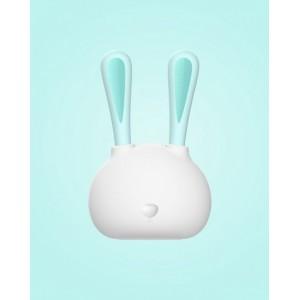 316不锈钢宝宝餐具套装 兔子造型勺子叉子组 便携式儿童餐具