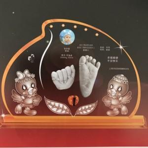 厂家直销婴幼儿纪念品宝宝水晶手足印