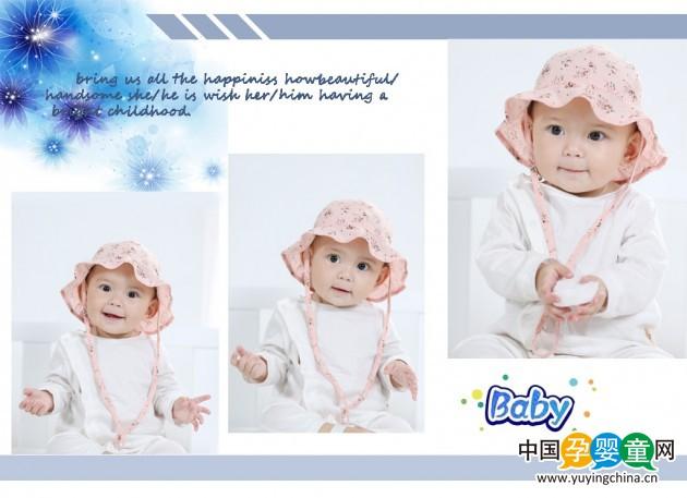 婴儿帽子春秋季太阳帽棒球帽男女儿童纯棉遮阳帽防晒宝宝帽子春夏