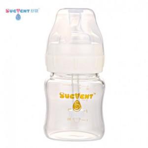 舒婴(sucvent) 防呛奶宽口径玻璃新生儿防胀气奶瓶
