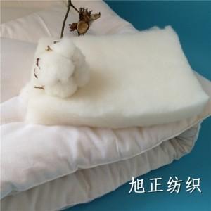 厂家生产定制睡袋填充纯棉花水洗棉片服装中棉