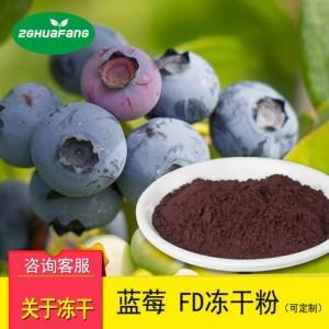 FD冻干蓝莓粉 果蔬冻干粉 冻干食品 水果冻干厂家航天食品