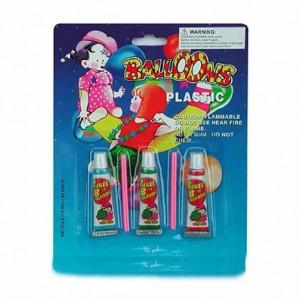 泡泡胶玩具 吹气球泡泡 太空吹气球 3支装泡泡胶