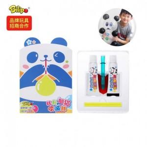 熊猫玩具胶 自己吹泡泡做熊猫 太空气球吹波胶 吹泡泡胶批发
